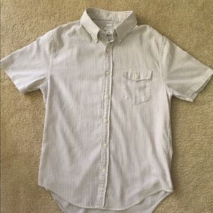 Club Monaco Short Sleeve Shirt Stripe - Medium